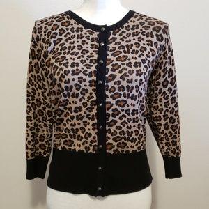 Premise brand NWT Leopard Print Retro Cardigan!